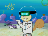 Sandy Wearing Goggles