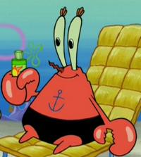 Mr. Krrabs Wearing a Swimsuit