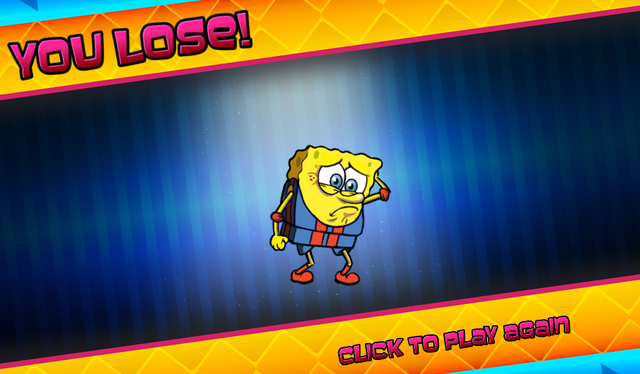 File:Bikini Bottom Brawlers SpongeBob in wrestling outfit you lose.png