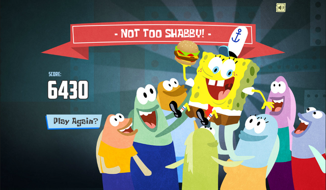 File:SpongeBob, You're Fired! (online game) - Not too Shabby!.png