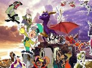 Spyro and friends adventures poster.