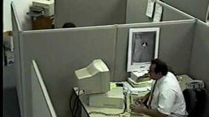 Man destroys computer