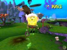 SpongeBob in action