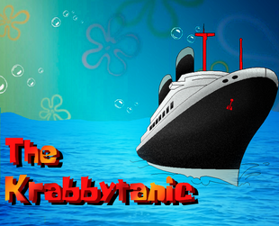 The krabbytanic title card