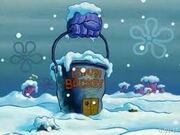 The chum bucket in winter