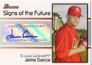 2008 Bowman Baseball SOTF JG