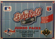 1991 Upper Deck Jumbo Pack Box