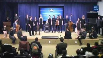 Spring Awakening Cast & Duncan Sheik Perform at the White House
