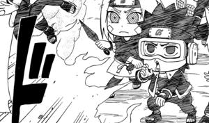Obito using Fire Ball Technique