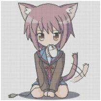Anime kitty girl