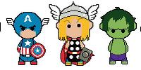 Chibi-style Avengers