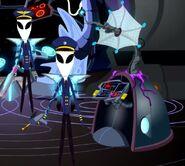 Alien pilots and defense matrix