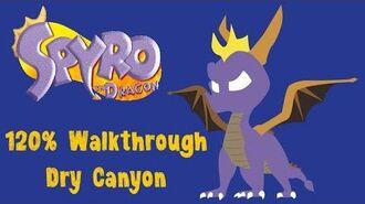 Spyro the Dragon 120% Walkthrough - 8 - Dry Canyon