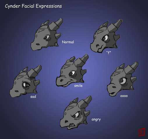 File:Cynder facial expressions.png