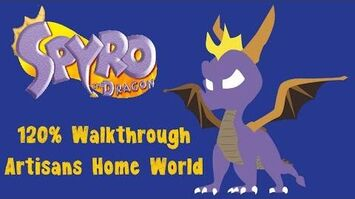 Spyro the Dragon 120% Walkthrough - 1 - Artisans Homeworld