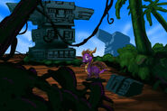 Spyro in Tall Plains background