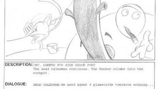 Agent 9 Intro Storyboard (First Draft) for unreleased GameCube game.