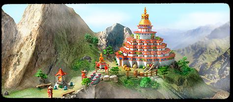 Meditation Temple Artwork