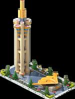 Gold SB-66 Bomber Monument