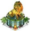 Golden Lion Statue (Night)