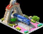Silver Nickel Locomotive Arch
