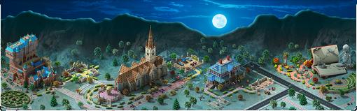 Halloween in Megapolis Background