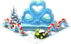 Pedestal Ice Hearts