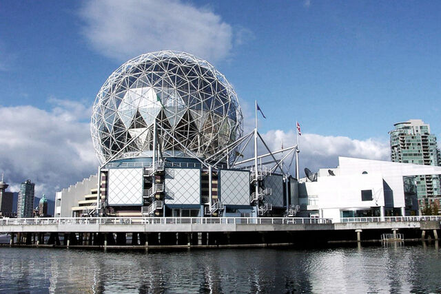 File:Geodesic dome of Telus World of Science built as Expo Centre for Expo 86. Vancouver.jpeg