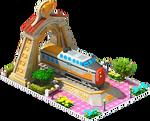 Gold Turbotrain Locomotive Arch