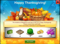 Thanksgivings' Day Start Gift