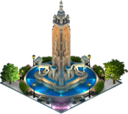 Plaza Luceros Fountain (Night)