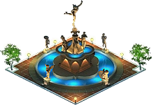 File:Fountain with a Statue (Night).png