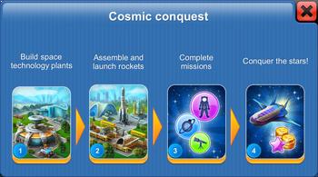 Cosmic Conquest in Megapolis