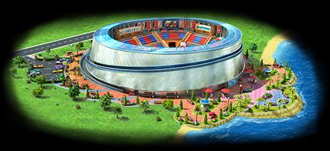 Megapolis Basketball Arena Artwork