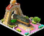 Gold Centipede Locomotive Arch