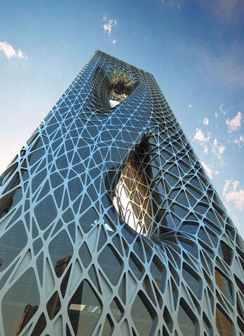 File:RealWorld Sunrise Tower.jpg