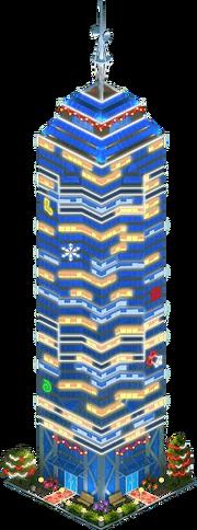 Cloud Spear Skyscraper (Night)