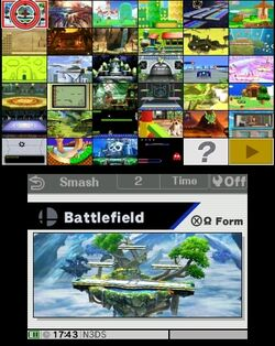 Stage Select SSB3DS Normal