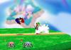 Luigi Back throw SSB