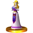 SSB3DS Zelda (Ocarina of Time) Trophy