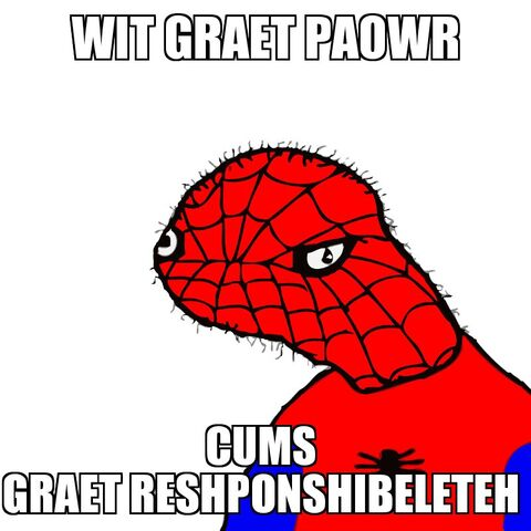 File:Meme Spoderman With Great Power.jpg