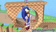 Sonic Congratulations Screen All-Star Brawl