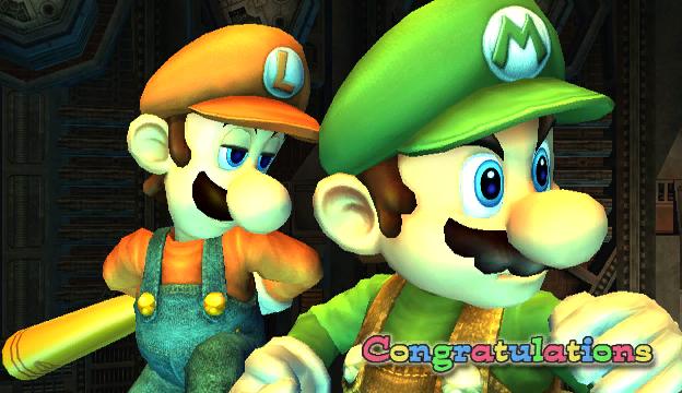 File:Luigi Congratulations Screen All-Star Brawl.png