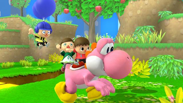File:SSB4-Wii U Congratulations Yoshi Classic.png