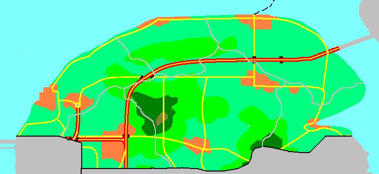 Kaart Esdoornheuvels
