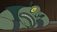 S2E20 Buff Frog cracks one eye open