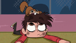 S1E4 Tiny squirrel gnawing on Marco's head