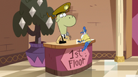 S2E25 Glossaryck confronts Sean at first floor desk
