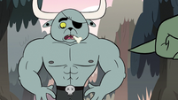 S2E12 Dogbull looking down at his abs
