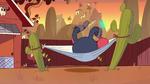 S1E13 Two-headed monster bounces in hammock